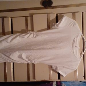 Simple white ruched dress